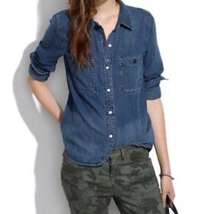 Madewell Jean Button Down Shirt